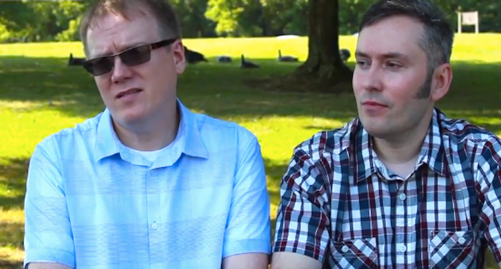 Gay Kentucky couple says Kim Davis 'tainted' their wedding: 'Our marriage license put someone in jail'