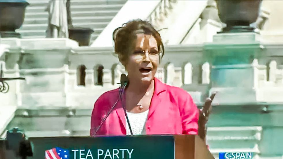 Sarah Palin refers to Black Lives Matter protesters as 'dogs' at rally against Iran deal
