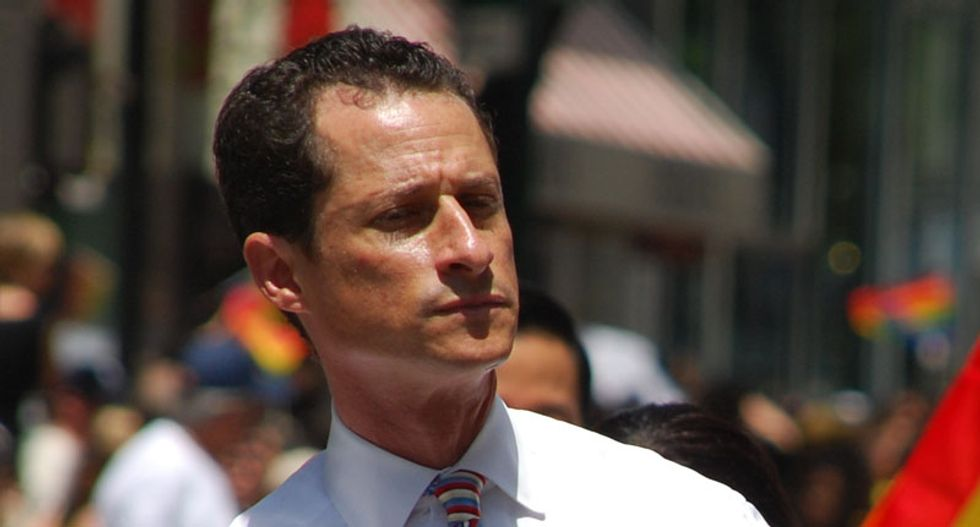 Newly found emails in FBI probe of Clinton were found on device used by Anthony Weiner: NY Times