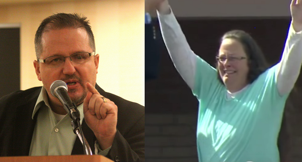 Oath Keepers put 'boots on the ground' to guard oath-breaking Kim Davis from 'dictator' judge