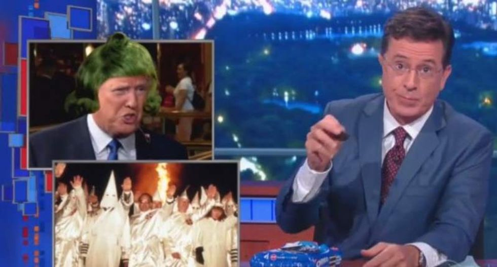 Stephen Colbert hammers Donald Trump: He's not even white -- he's 'Oompa-Loompamerican'