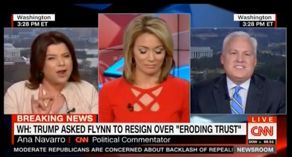 CNN screaming match erupts as Ana Navarro battles ex-Bush official over investigating Michael Flynn