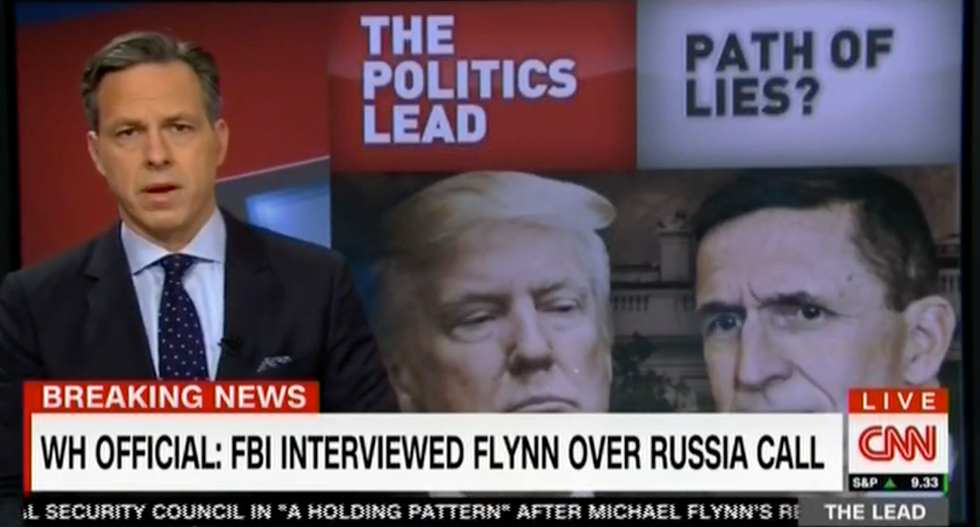 'Might be easier just to tell the truth and stick with it': Tapper nails Trump's ever-changing Flynn tale