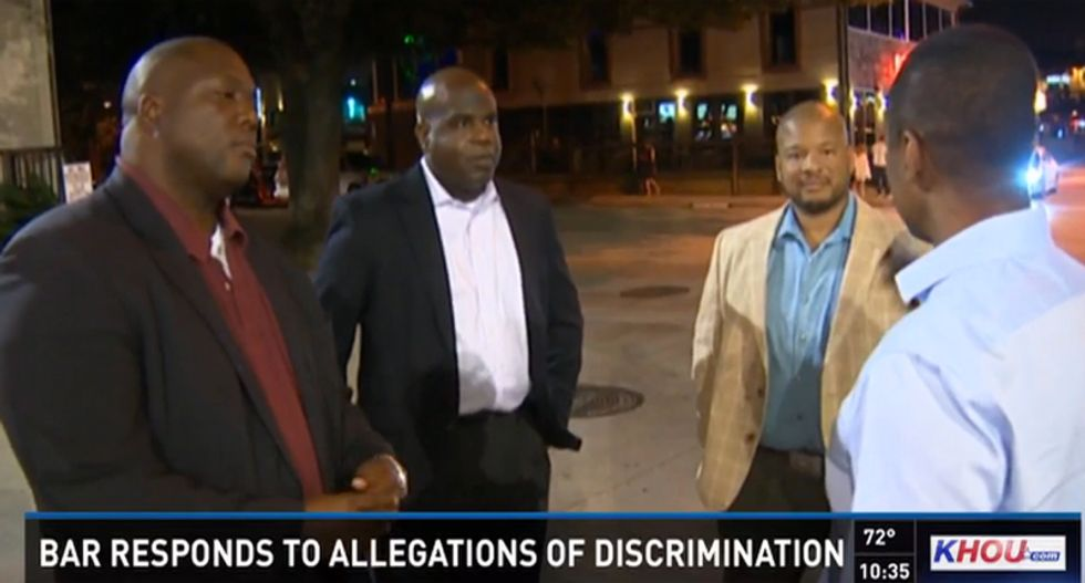Black men accuse Houston bar of demanding a $20 cover charge while letting white people in for free