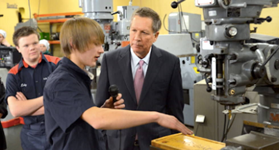 Ohio's Gov. John Kasich wants to require factory internships for teachers to promote jobs for students