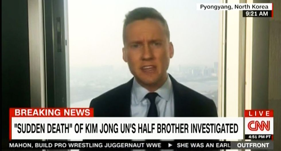 WATCH: CNN's feed from North Korea cut as reporter points out people are starving while they build missiles