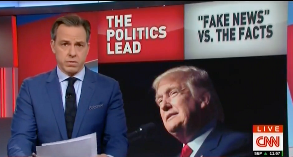'These are facts': CNN's Jake Tapper humiliates Trump for calling news reports 'conspiracy theories'