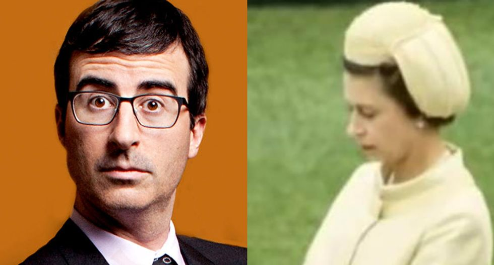 John Oliver mocks Queen Elizabeth II's hats: 'A penis that's literally died of embarrassment'
