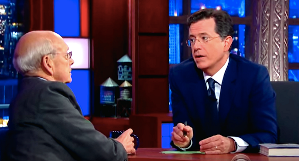 Stephen Colbert asks Justice Breyer about TV ban: 'Why can't we watch you?' The government can watch us