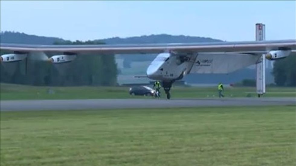 WATCH: Swiss solar-powered plane completes maiden flight