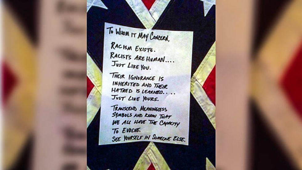 'Hatred is learned': Austin band covers NC venue's rebel flag in black, leaves note asking them to 'evolve'