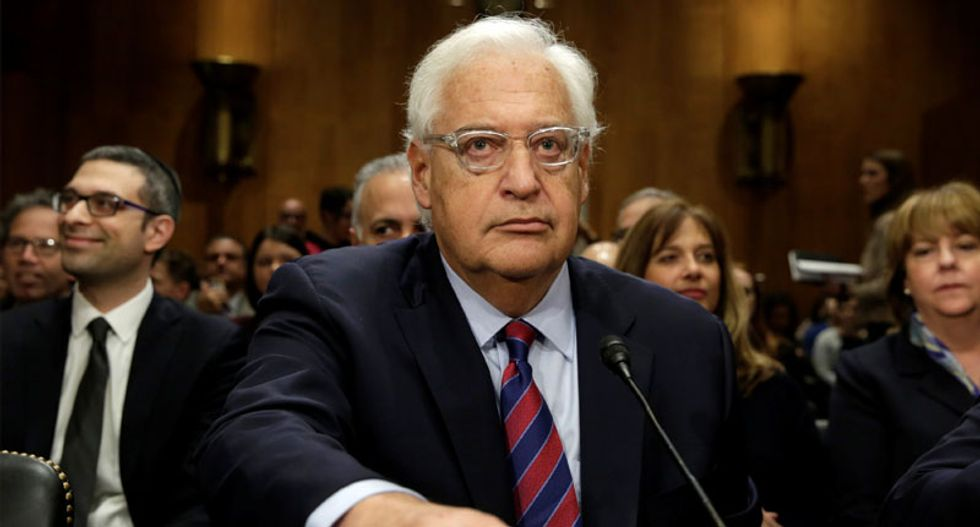 Trump nominee for Israel ambassador heckled and grilled in Senate hearing