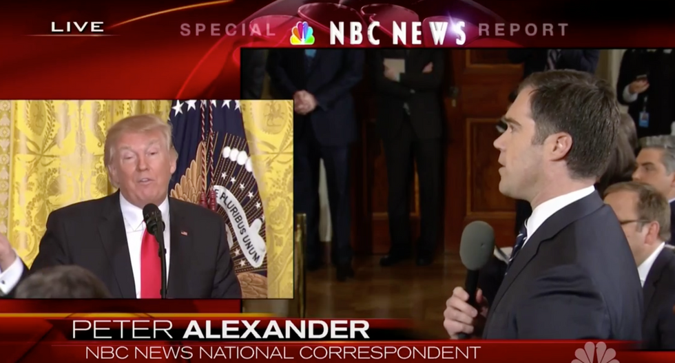'Why should Americans trust you?': Presser goes off the rails when NBC reporter confronts Trump