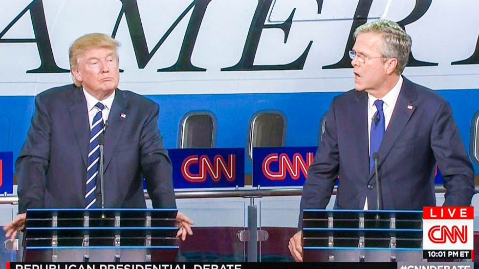 Trump hits Jeb Bush over 'W.' and 9/11: It happened 'during his reign'