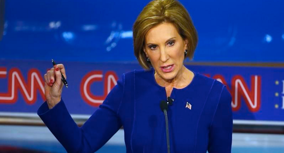 Carly Fiorina defends her lie with a whole bunch of lies