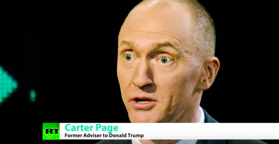 Carter Page spent seven hours pleading the Fifth and refusing to hand over documents to House intel committee