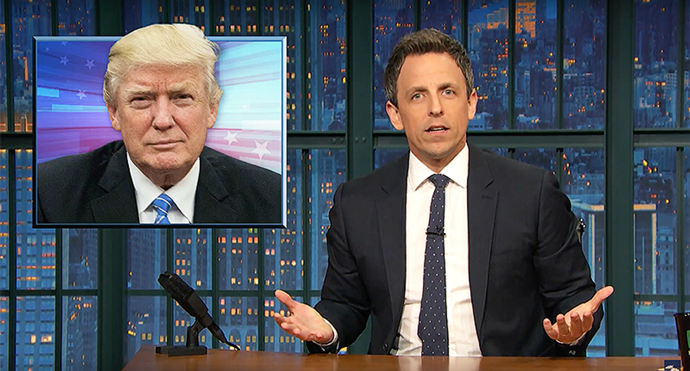 'Do all orange people know each other?': Seth Meyers slams Trump for racist question to black journalist