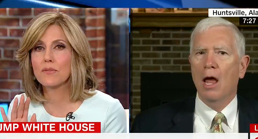 Rep. Mo Brooks crashes and burns after CNN's Alisyn Camerota challenges him on caravan migrant claims