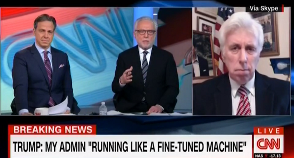 Jeffrey Lord insists Trump presser was 'relaxed, funny, on point' — then attacks CNN