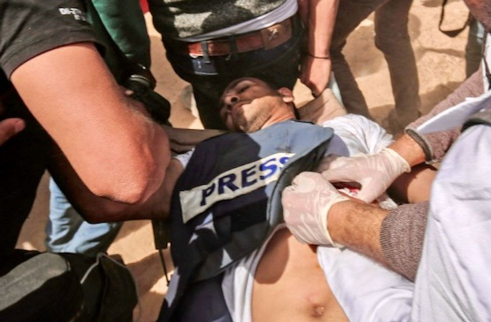 Six journalists shot by Israel during Gaza protests: union