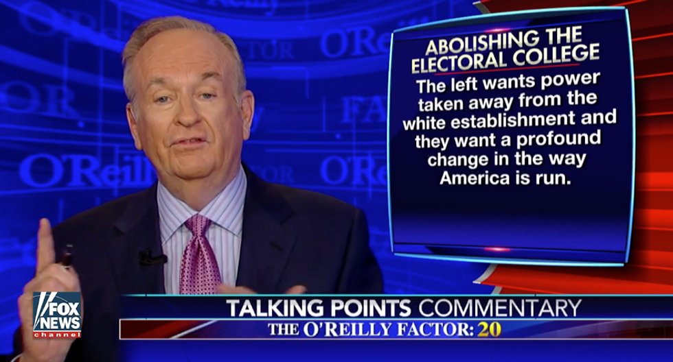 O'Reilly goes 'full white nationalist': Dems want 'power taken away from the white establishment'