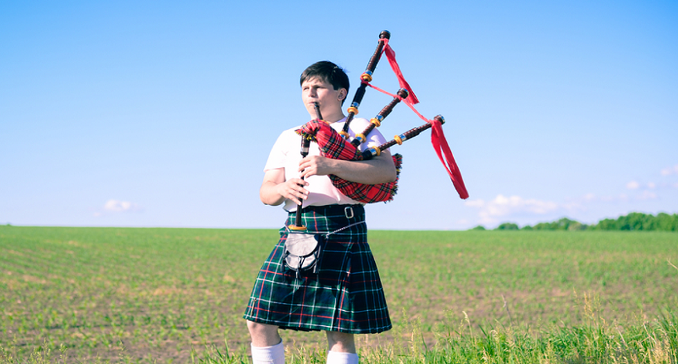 WATCH: Bagpipe playing kid silences anti-gay preacher in the 'most Scottish way possible'