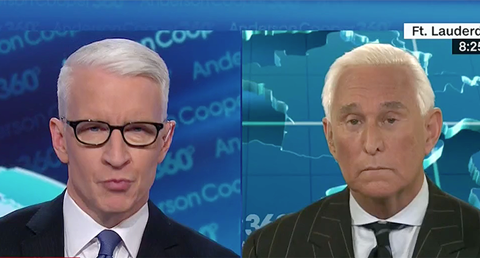 Trump confidante Roger Stone swears to CNN's Anderson Cooper he was poisoned — but refuses to prove it