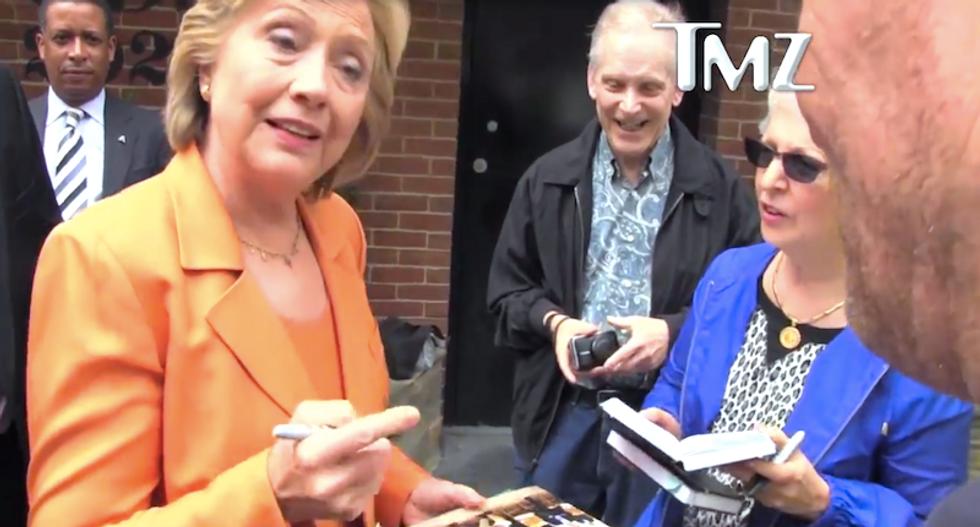 TMZ paparazzo tries to ambush Hillary Clinton on $10 bill: 'Does Oprah have a chance?'