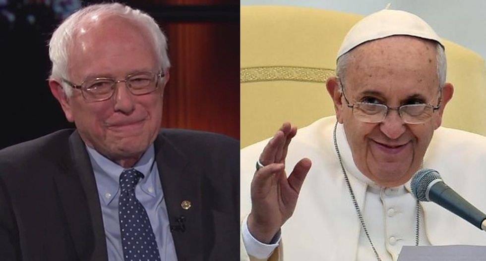Separated at birth? Bernie Sanders and Pope Francis are preaching similar messages of economic justice