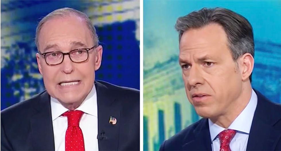 Trump adviser Kudlow ignores farmers' tariff woes to tout 'gangbuster' Wall Street profits in defensive CNN interview