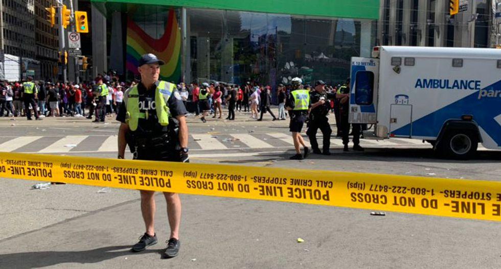 Mass panic after shooting at Toronto parade