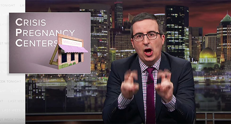 John Oliver opens a crisis pregnancy center just to prove they're complete BS