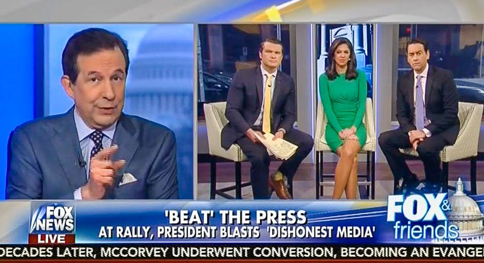 Chris Wallace galls 'Fox & Friends' with dictatorship warning: Trump 'crossed a line' attacking media