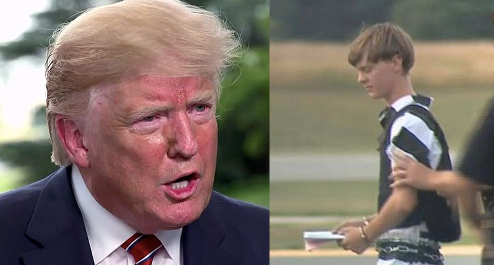 Four years ago this week: Trump's escalator ride and the Charleston shooting. It's not a coincidence