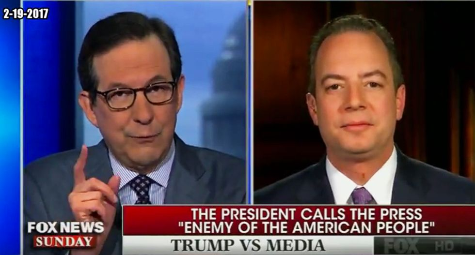 'That's what they have in dictatorships': Chris Wallace rips Priebus for wanting a 'state-run media'