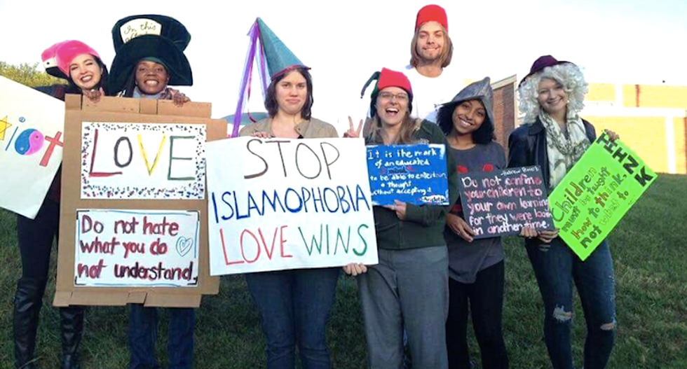 Johnson City counter-protest (Whitney Prater)