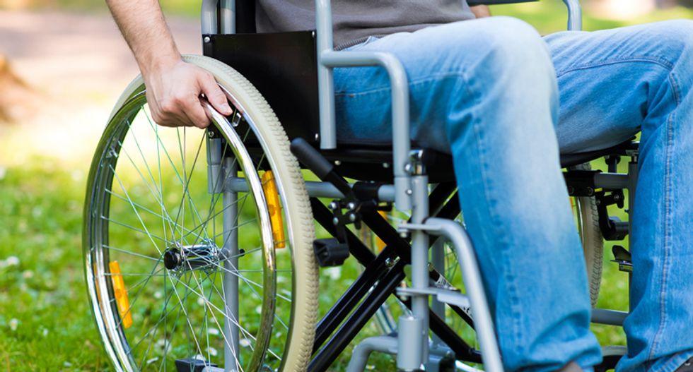 Paraplegic man walks again with own legs