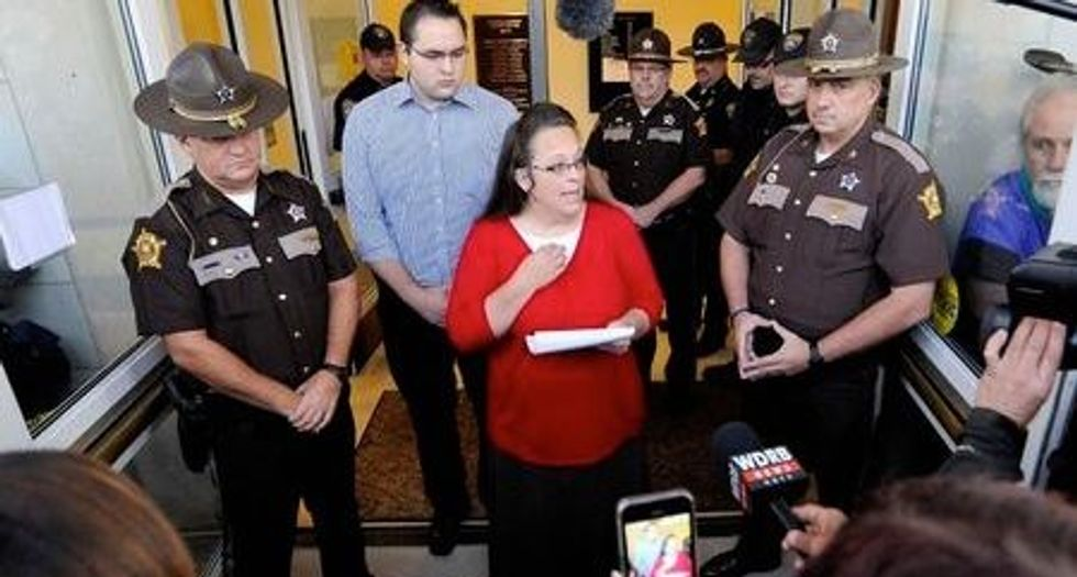 Federal judge rejects Kim Davis' latest attempt to avoid giving same-sex couples marriage licenses