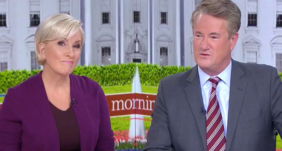 Morning Joe panel cracks up laughing after Trump busted for spotlighting 'the same black guy' at rallies