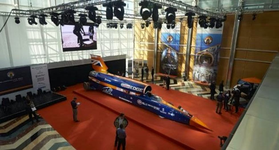 Supersonic Bloodhound Car aiming for land speed record unveiled