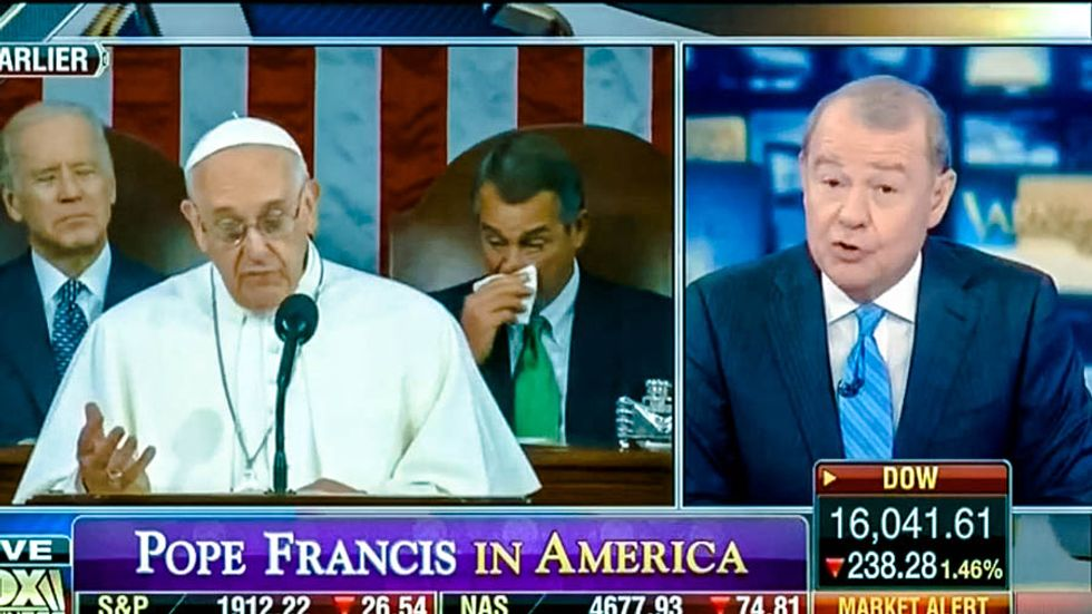 Fox host offers 'semi-apology' for trashing pope on climate change, then rips him for ignoring abortion