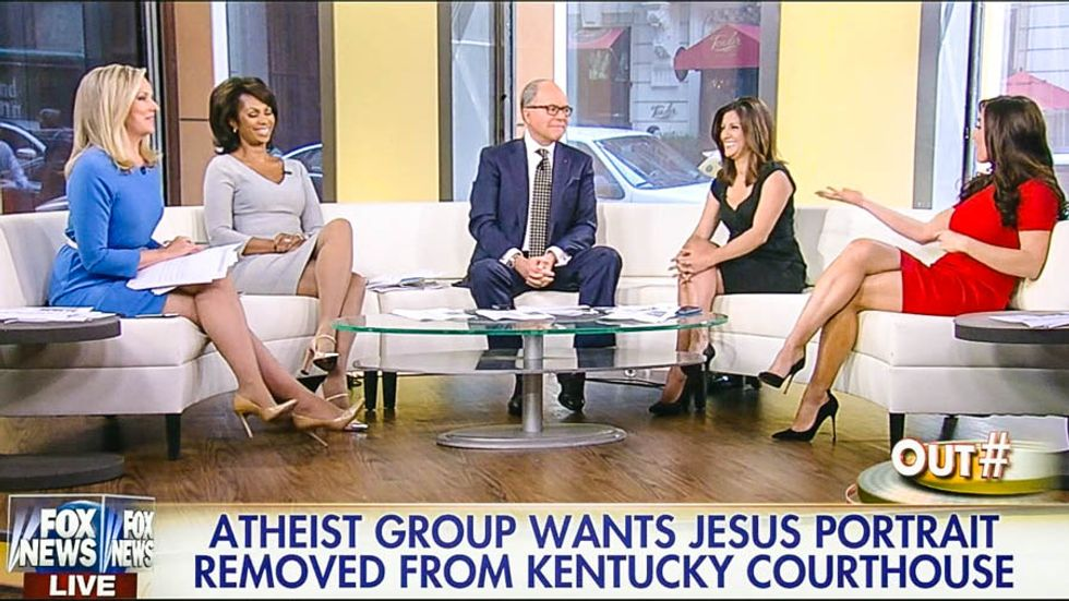 Fox host backs 'What Would Jesus Do' painting: 'If you're in a courthouse, you could use a little Jesus'