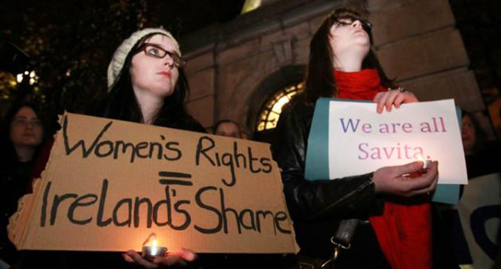 Thousands in Ireland march for easing of restrictive abortion laws