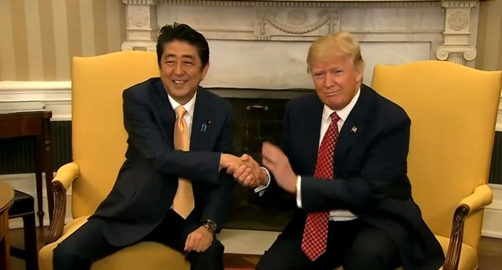 The psychology behind Trump's awkward handshake -- and how to beat him at his own game
