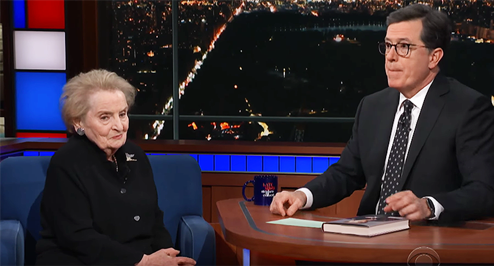 Madeleine Albright calls BS on Trump for blaming Obama for Syria -- and warns of his 'fascist tendencies'
