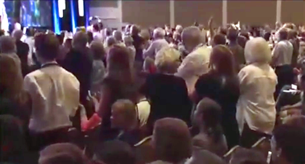 WATCH: Conservative Values Voter crowd goes bonkers when they learn Boehner is resigning