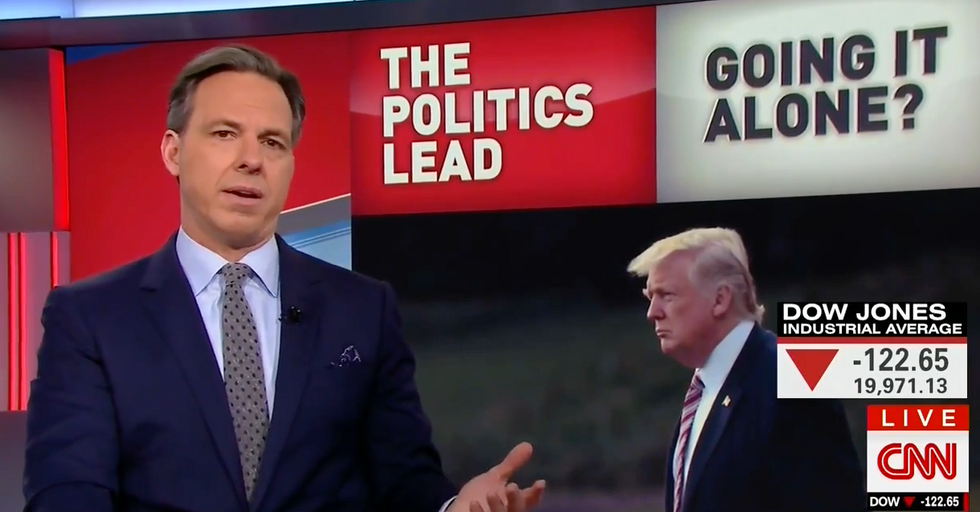 CNN's Tapper rips into Trump's 'unsettling' decision to replace experts on NSC with Steve Bannon