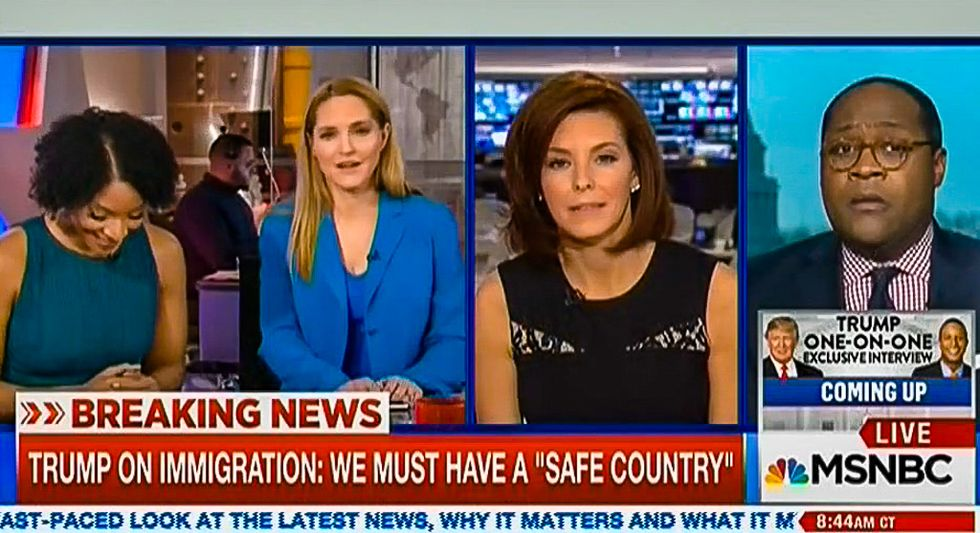 'Bizarre': MSNBC panel doubts Trump's sanity for saying black history 'love' is like his travel ban
