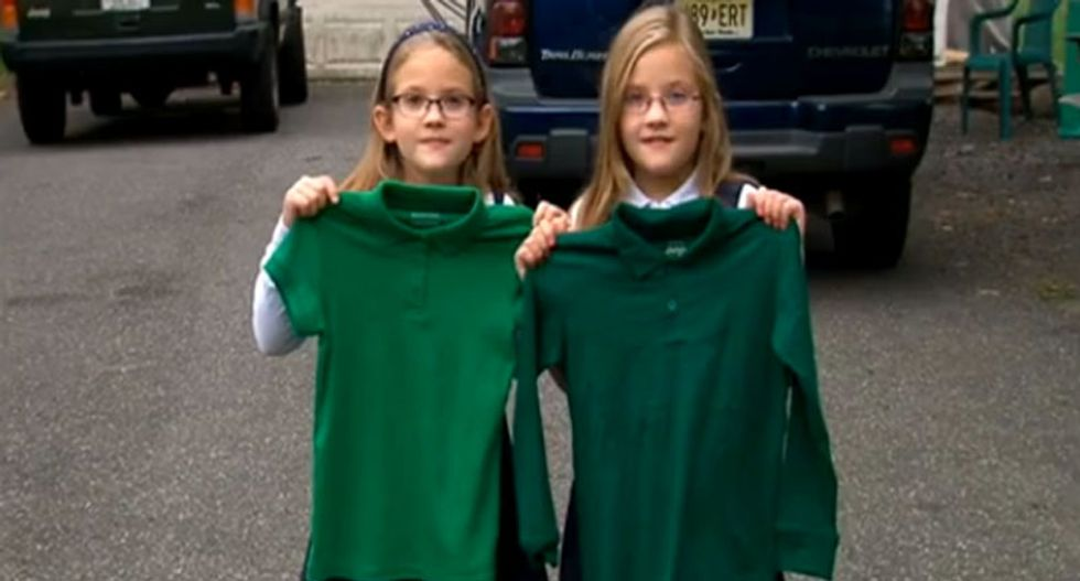 8-year-old girl suspended from school for wearing wrong shade of green