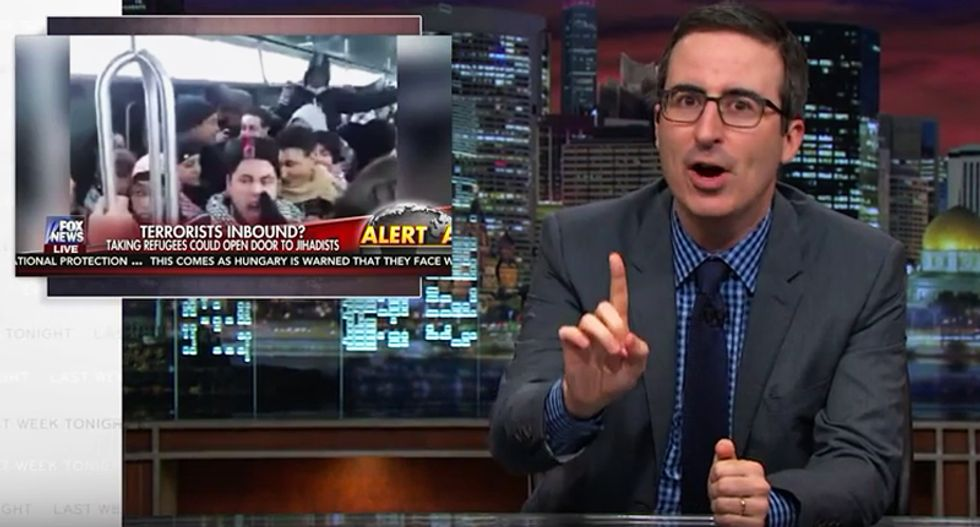 John Oliver busts Fox News using 5-year-old clip of chanting Muslims to create fear of 'terrorist' refugees